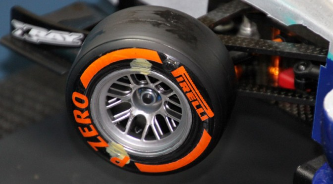 Tipp für Formel-Fahrer: Reifenaufkleber