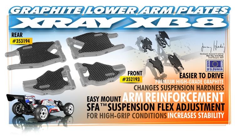 XRAY XB8 Querlenkerverstärkung