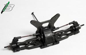 Der XB4 wird Komponentenweise gebaut. Hier die Hinterachse