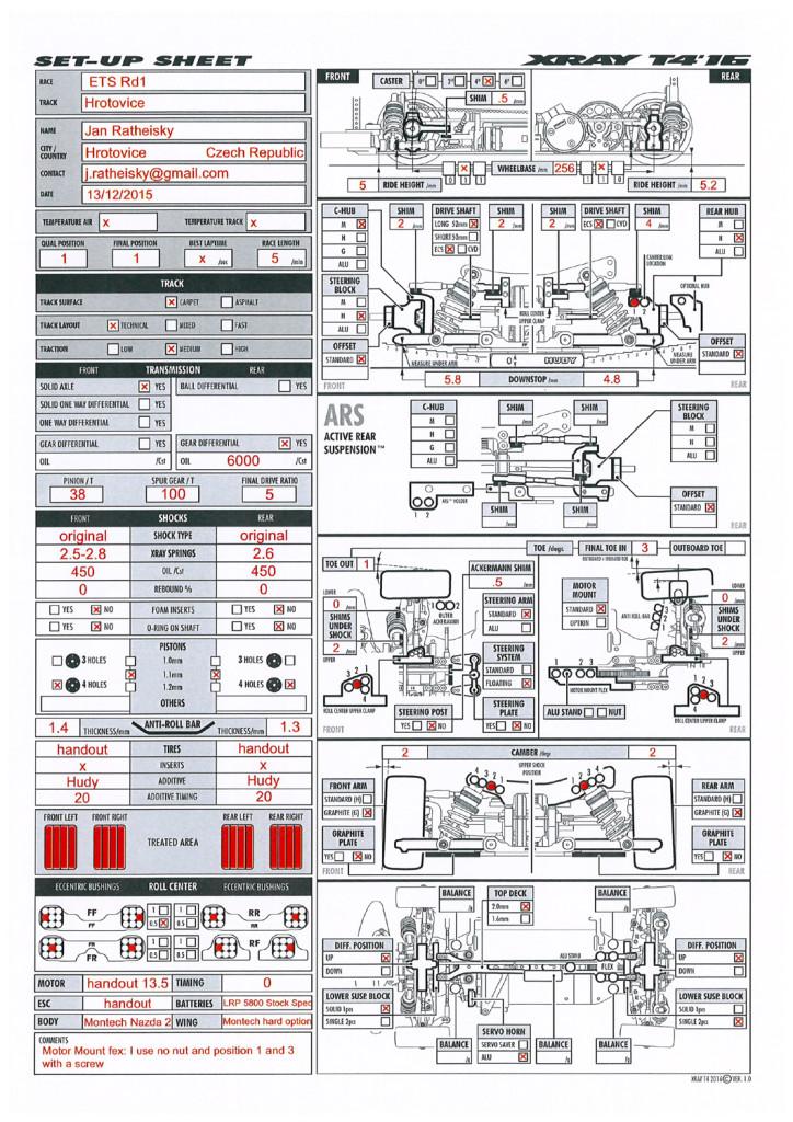 Setup Xray T4-2016 Jan Ratheisky ETS Hrotovice 2015xx